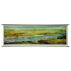 Vintage Countrycore Pull-Down Wall Chart Ukrainian Steppe Early Summer Landscape