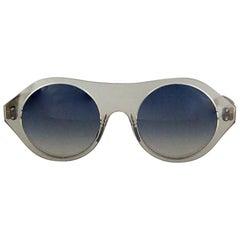 Vintage COURREGES Clear Futuristic Space Age Sunglasses