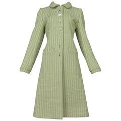 Vintage Courreges Green Wool Coat