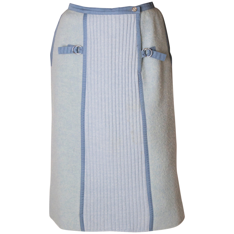 Vintage Courreges Sky Blue Skirt