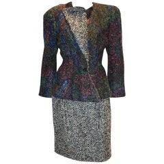 Vintage Couture Boucle Skirt  Suit