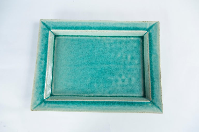 Vintage Crackle-Glaze Ceramic Tray, by Jars, France, Mid-20th Century In Good Condition For Sale In Chappaqua, NY