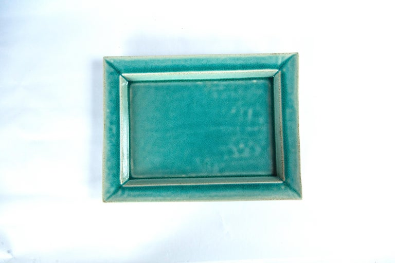Vintage Crackle-Glaze Ceramic Tray, by Jars, France, Mid-20th Century For Sale 1