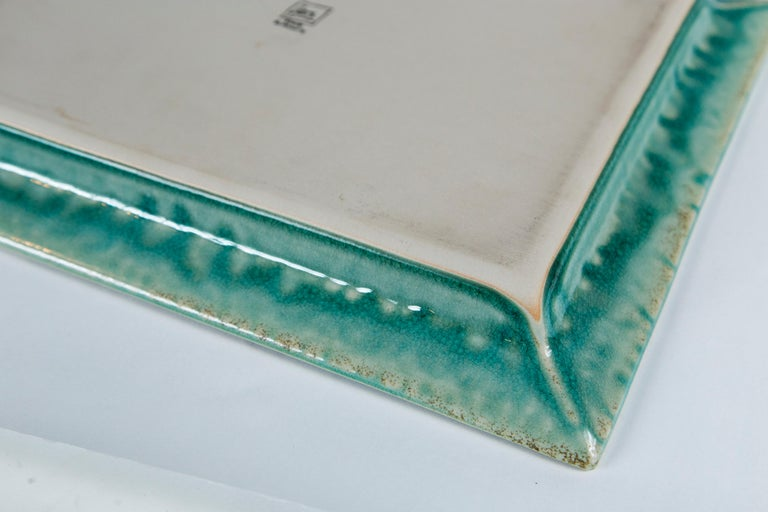 Vintage Crackle-Glaze Ceramic Tray, by Jars, France, Mid-20th Century For Sale 4
