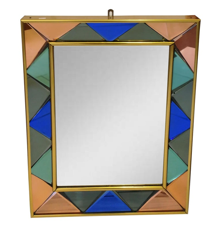 Vintage Cristal Art Mirror, 1960s In Excellent Condition For Sale In Roma, IT
