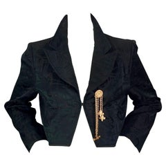 Vintage CRISTIAN LACROIX Jeweled Aztec Cropped Blazer Jacket