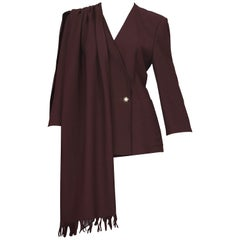 Vintage CRISTIAN LACROIX Shoulder Shawl Wrap Blazer Jacket