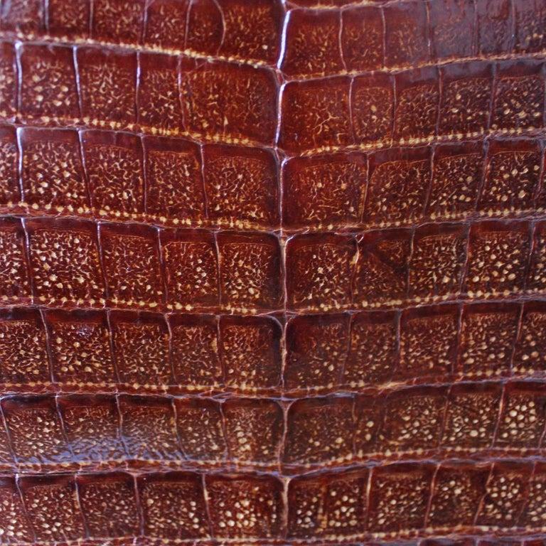 Vintage Crocodile Handbag In Good Condition For Sale In Gazzaniga (BG), IT