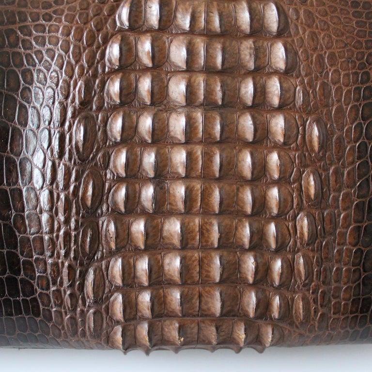 Women's Vintage Crocodile Handbag For Sale