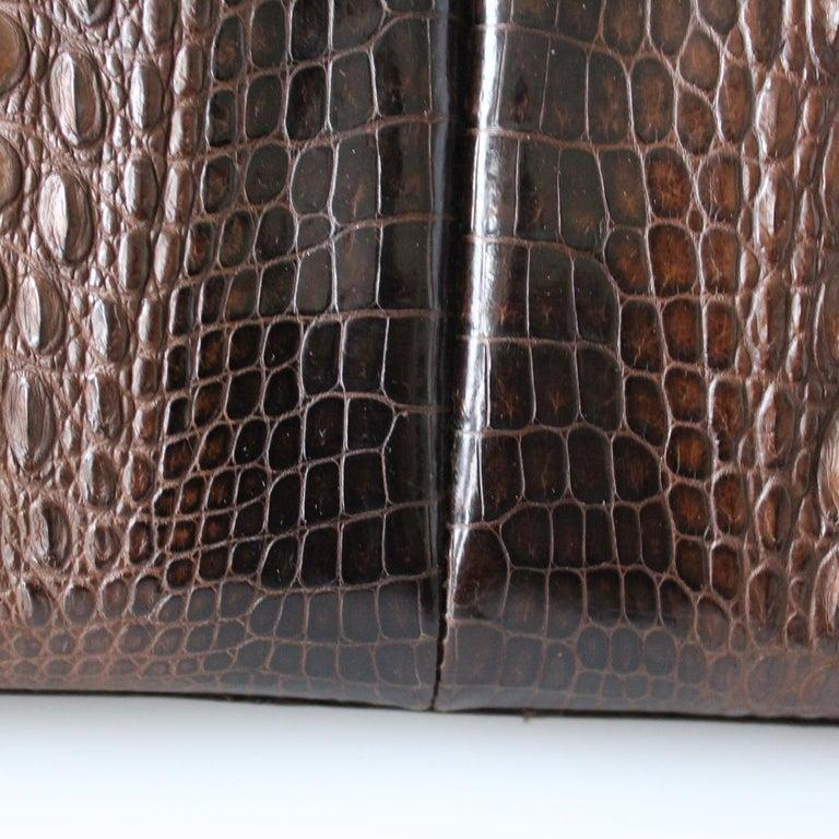 Vintage Crocodile Handbag For Sale 1