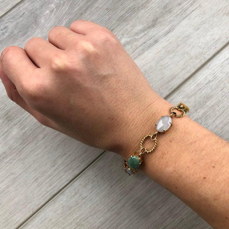 Women's Vintage Cropp & Farr Multi Stone and 9 Carat Gold Bracelet