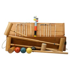 Vintage Croquet Set by Gamages