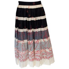 Vintage Cruise Cotton Skirt