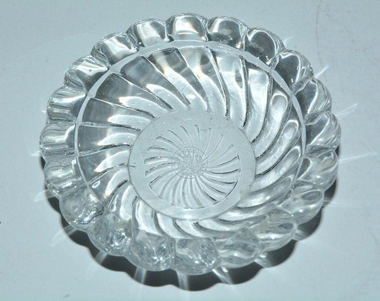French Vintage Crystal Baccarat Salt Cellar For Sale