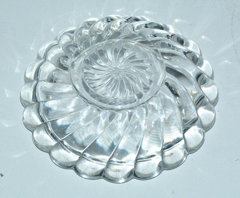 Molded Vintage Crystal Baccarat Salt Cellar For Sale