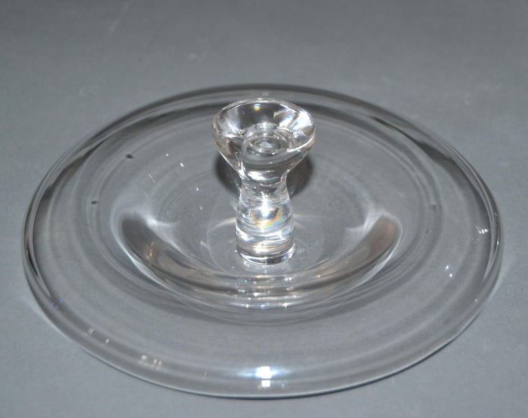 American Vintage Crystal Clear Art Glass Apple by Elsa Peretti for Tiffany & Co. For Sale