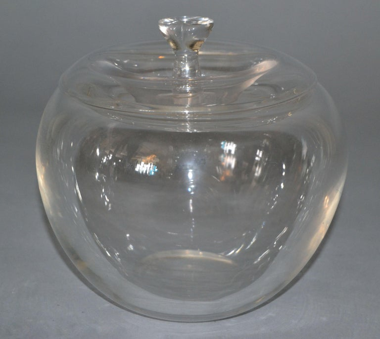 Vintage Crystal Clear Art Glass Apple by Elsa Peretti for Tiffany & Co. For Sale 3