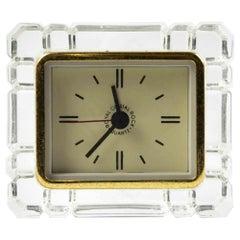 Vintage Crystal Clock, Italy, 1970s