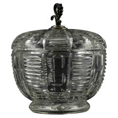Vintage Crystal Container, Italy, 1970s