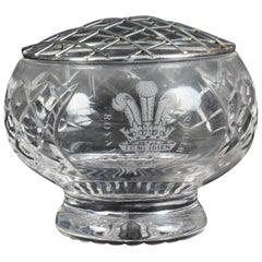Vintage Crystal Cut Glass Rose Bowl Flower Vase Royal Wedding, 1981