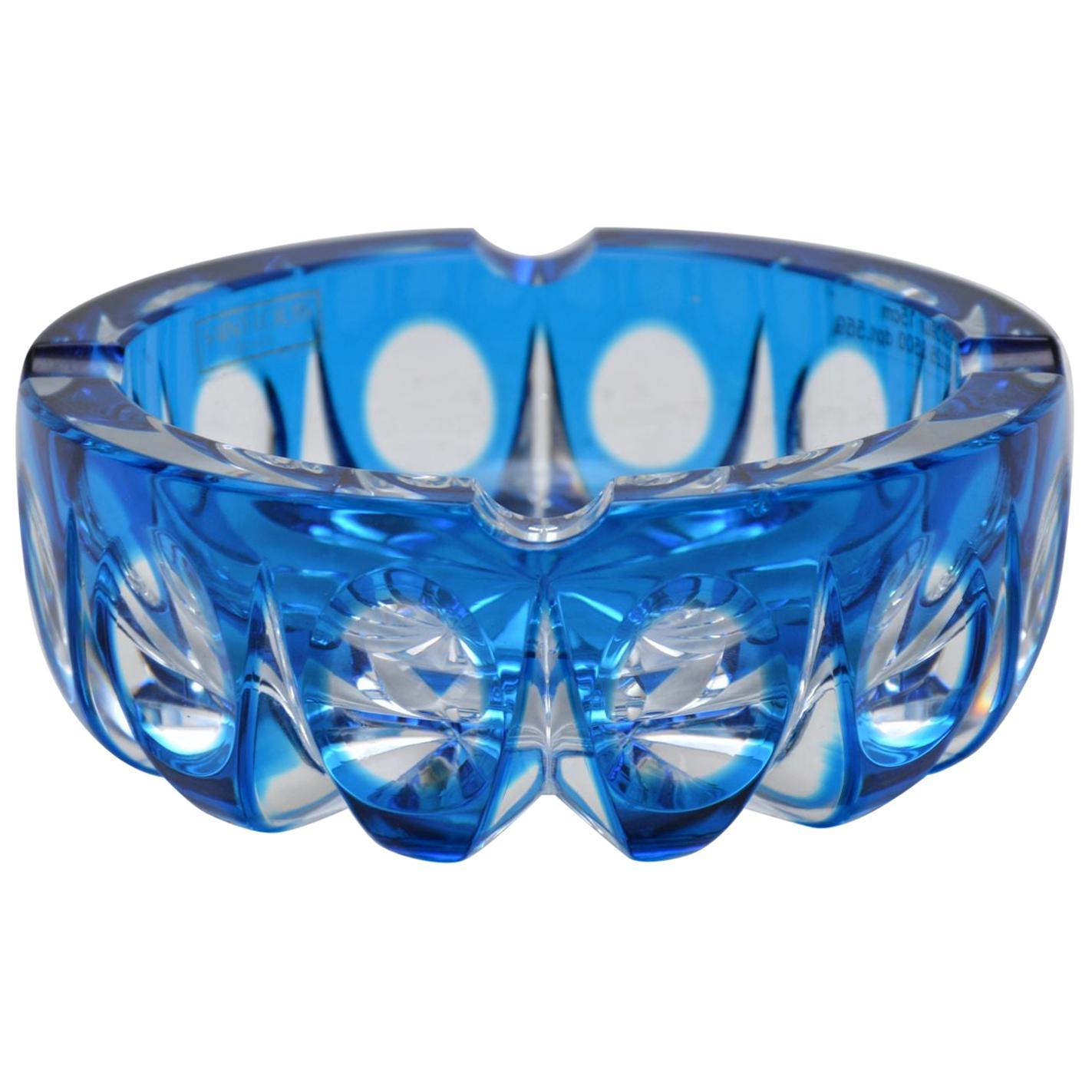 Vintage Crystal Glass Ambassador Ash Tray by Saint Louis