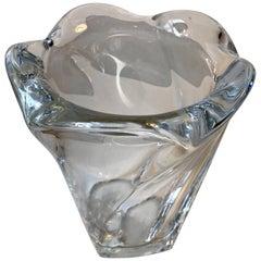 Vintage Crystal Vase by Allan Scharff for Holmegaard, 1990s