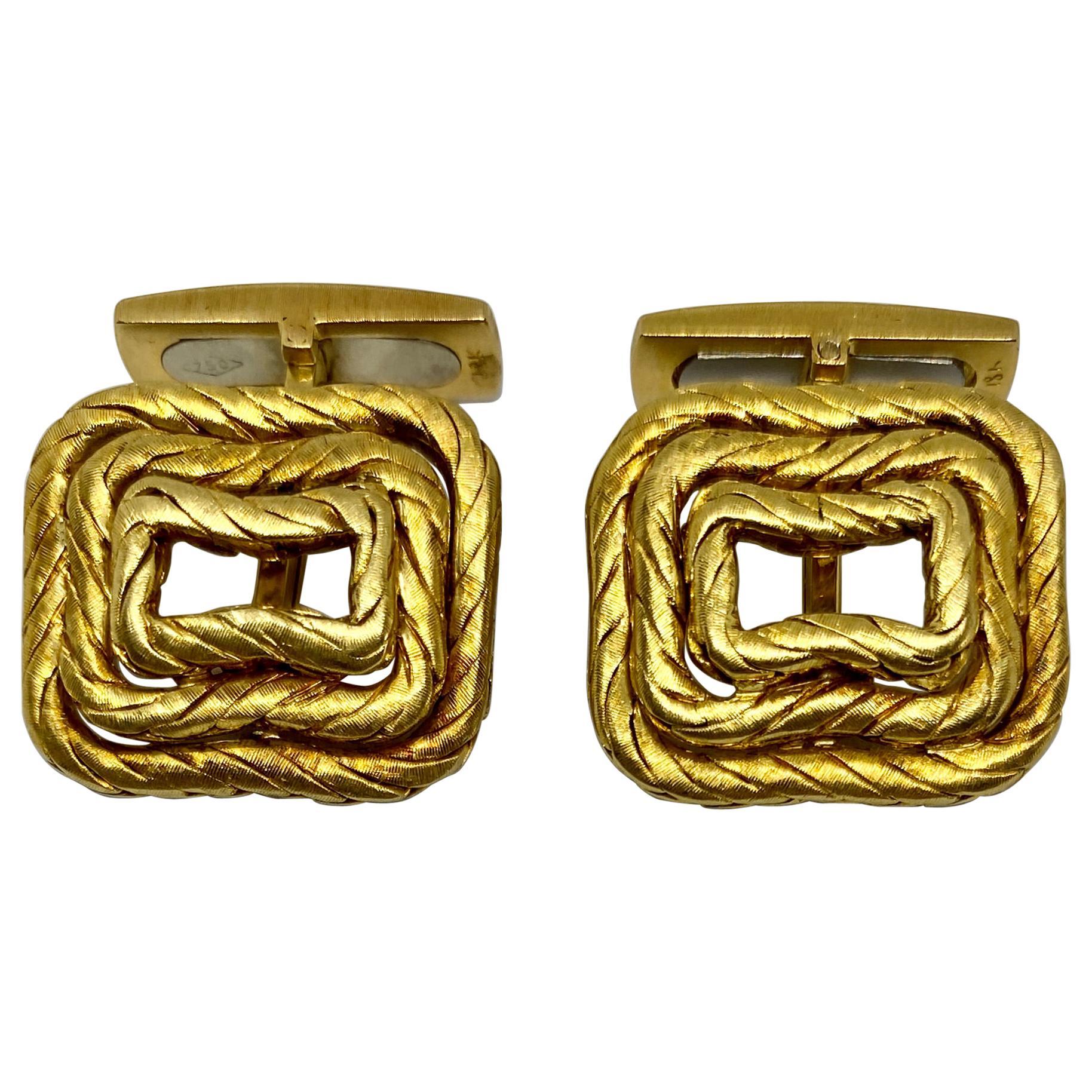 Vintage Cufflinks in 18K Yellow Gold by Buccellati