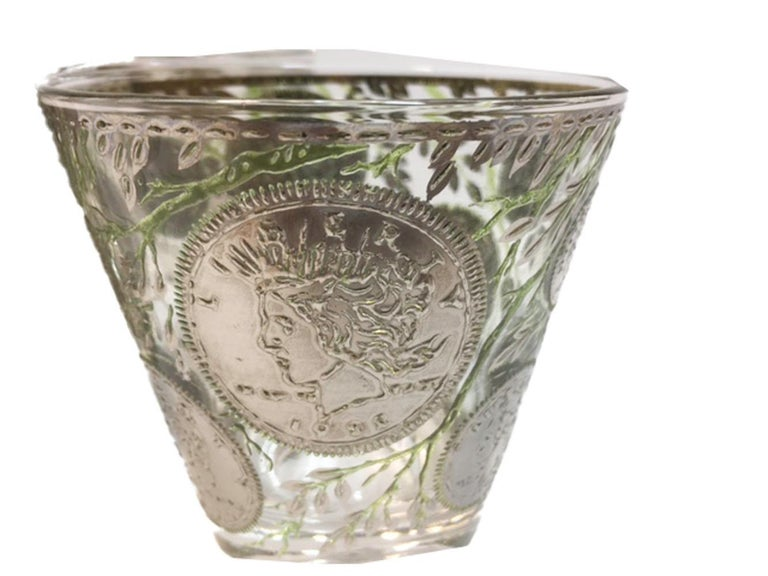American Vintage Culver Old Fashioned Glasses in Silver