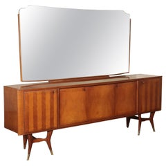 Vintage Cupboard With Mirror, Italy, 1950s