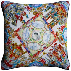 Vintage Cushions - '1953 Coronation Souvenir' - Bespoke luxury pillow Made in UK