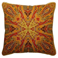 "Vintage Cushions ""Becks"" Bespoke luxury silk pillow - Made in London"