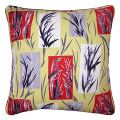 Vintage Cushions, Bespoke-Made Luxury Pillow, 'Bamboo Leaves', Made in UK