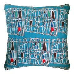 Vintage Cushions, Bespoke Made Luxury Pillow - 'Kontiki', Made in UK