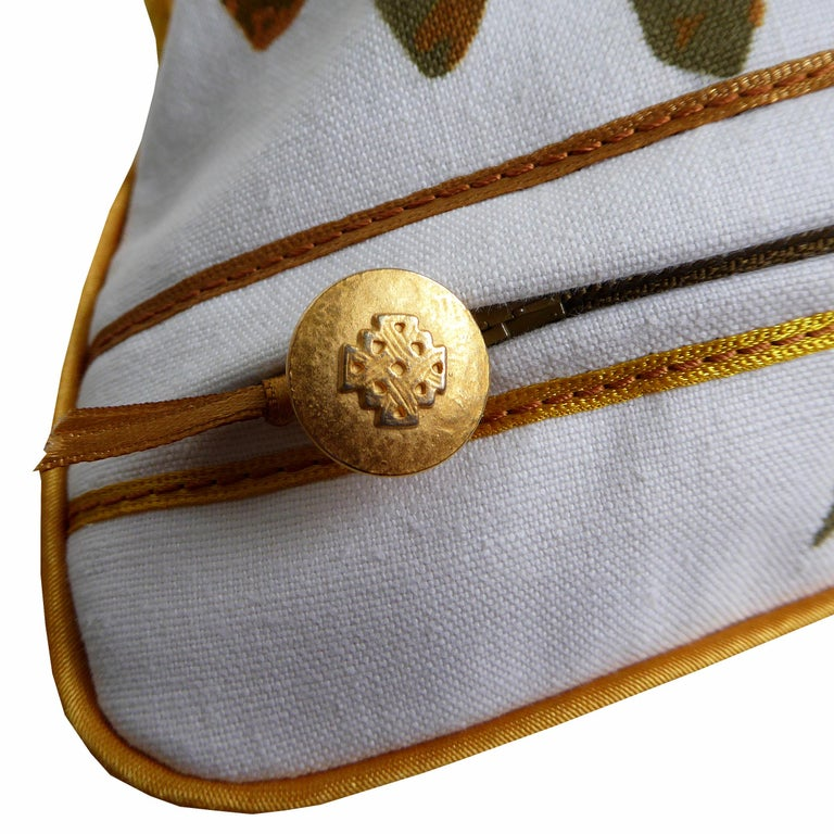 English Vintage Cushions, Bespoke-Made Luxury Pillow 'Miranda', Made in UK For Sale