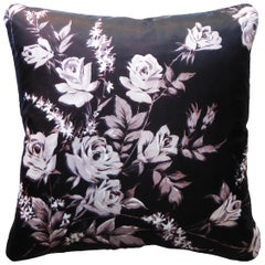 Vintage Cushions Bespoke-Made Luxury Silk Pillow 'Monochrome Fauna' Made in UK