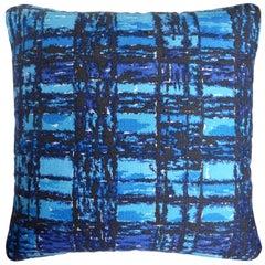 'Vintage Cushions' Bespoke-Made Midcentury Pillow 'Nicholls Checks' Made in UK