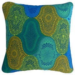 Vintage Cushions Bespoke Made Midcentury Fabric Pillow Alhambra Made in London