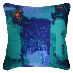 Vintage Cushions Bespoke Made Midcentury Fabric Pillow 'Romany' Made in London