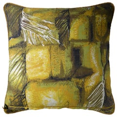 Vintage Cushions Bespoke Midcentury Pillow 'Feather Leaf Vein', Made in London