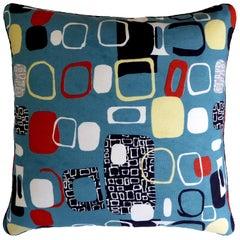 Vintage Cushions Bespoke Pillow 'Pebbles' Fabric by Designer Jacqueline Groag