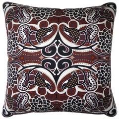"Vintage Cushions ""Cormorant Strike"" Bespoke luxury silk pillow - Made in London"