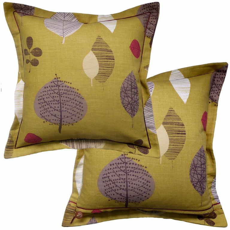 English Vintage Cushions Luxury Bespoke-Made Linen Pillow 'Perry Green', Made in London