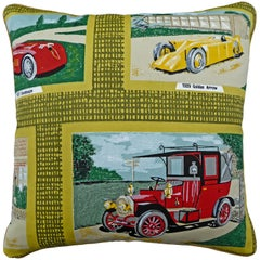 'Vintage Cushions' Luxury Bespoke-Made Pillow '1929 Golden Arrow' Made in London