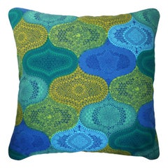 'Vintage Cushions' Luxury Bespoke-Made Pillow 'Alhambra', Made in London