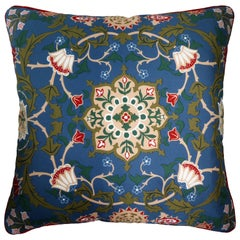 'Vintage Cushions' Luxury Bespoke-Made Pillow 'Beckford Silks', Made in London