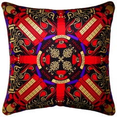 'Vintage Cushions' Luxury Bespoke-Made Pillow 'BT London MMX11', Made in London