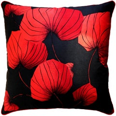 'Vintage Cushions' Luxury Bespoke Made Pillow 'Dragon Fly', Made in London