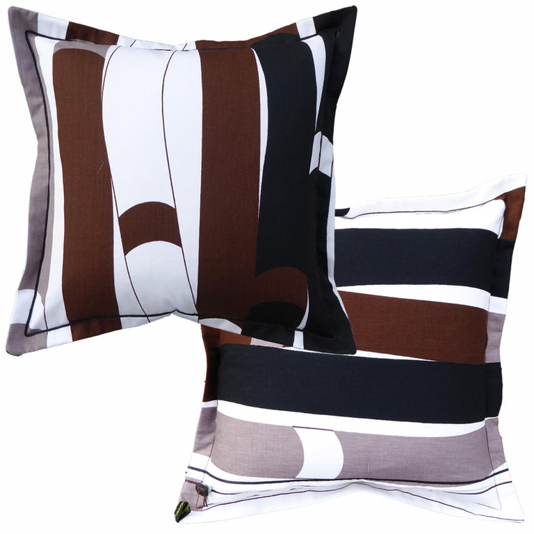 Kendix circa - 1960 British bespoke-made luxury cushion created using original vintage fabric The textile was designed for the store Heal's of London and named 'Kendix' after its own cloth house whose designs were known for 'Creating and inspiring