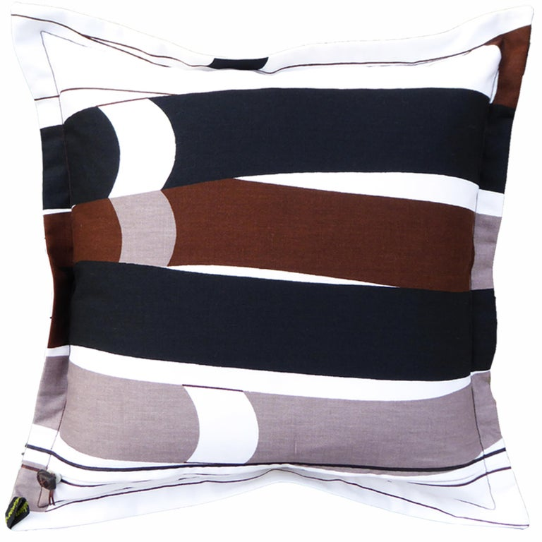 British Vintage Cushions, Luxury Bespoke Made Pillow 'Kendix', Made in London For Sale