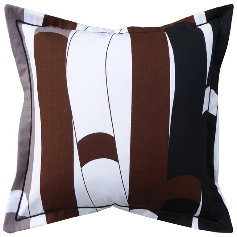 Vintage Cushions, Luxury Bespoke Made Pillow 'Kendix', Made in London For Sale